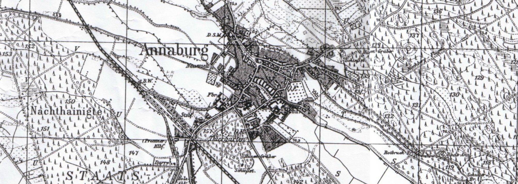 Annaburg 1905, Ausschnitt