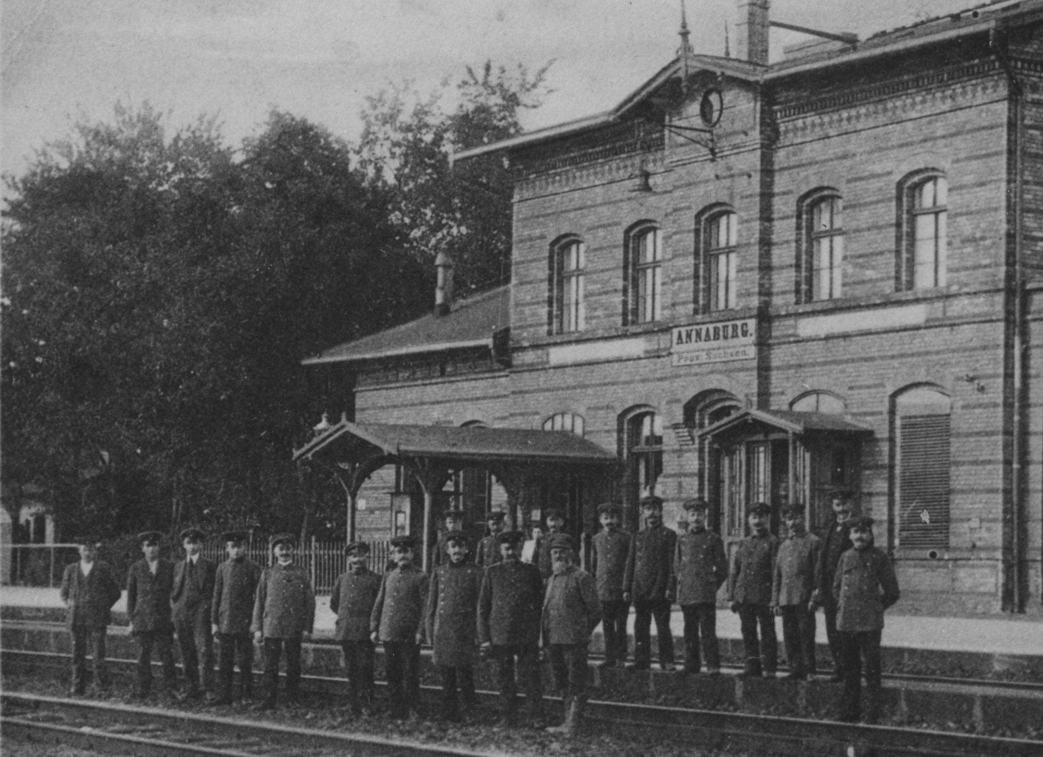 Der Bahnhof von Annaburg 1901
