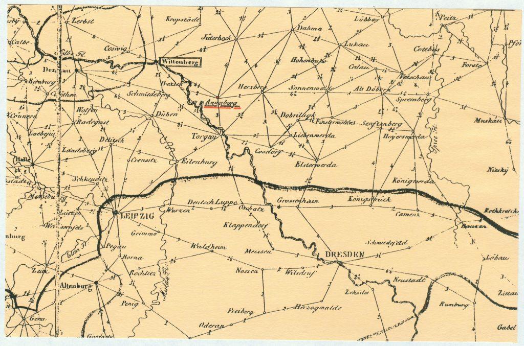 Preußische Post-Kurse von 1821