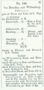 Fahrplan-Kurs 140 von 1832