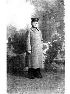 Albert Müller in Zöglingsuniform