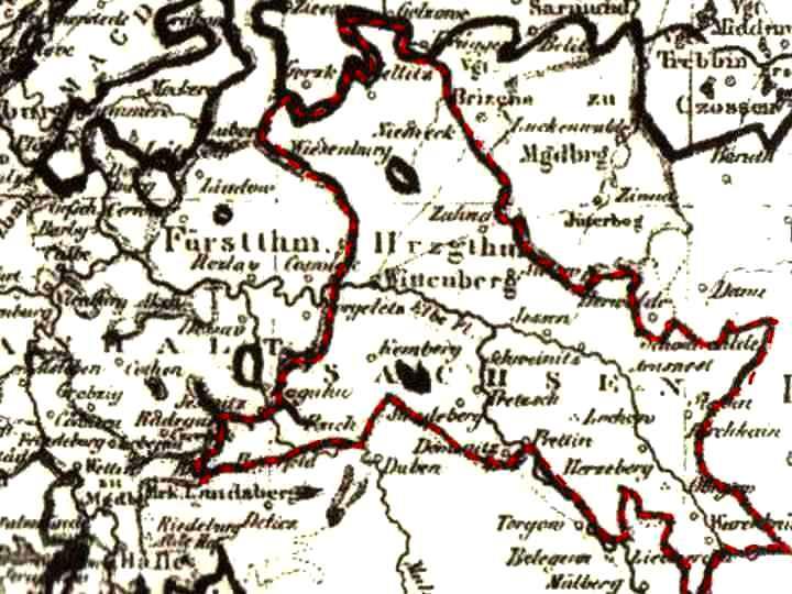 Herzogtum Wittenberg - der sächsischer Kurkreis