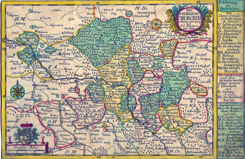 Kurkreis Sachsen 1752