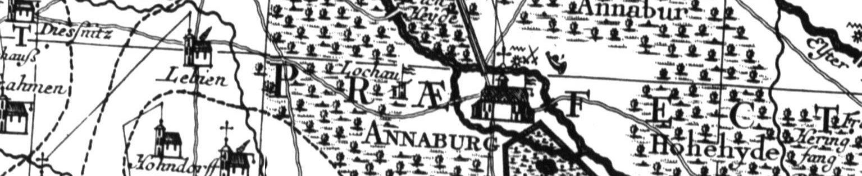 Ausschnitt aus der Ämterkarte von Seutter 1752