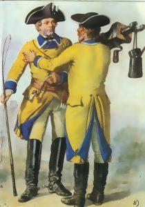 Sächische Postuniform 18Jh.