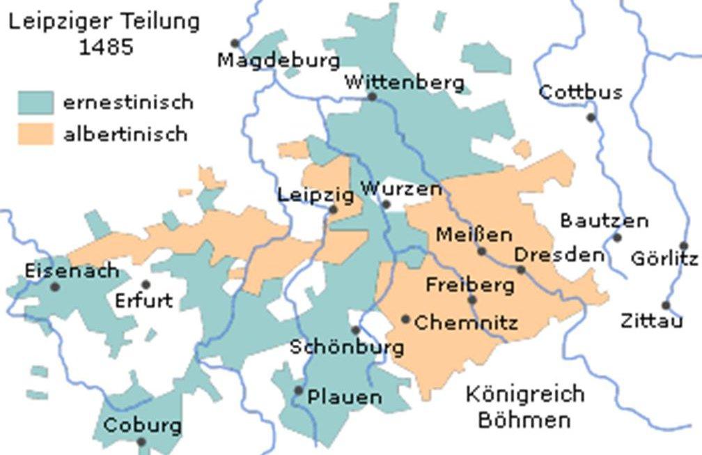 Sächsische Teilung 1448