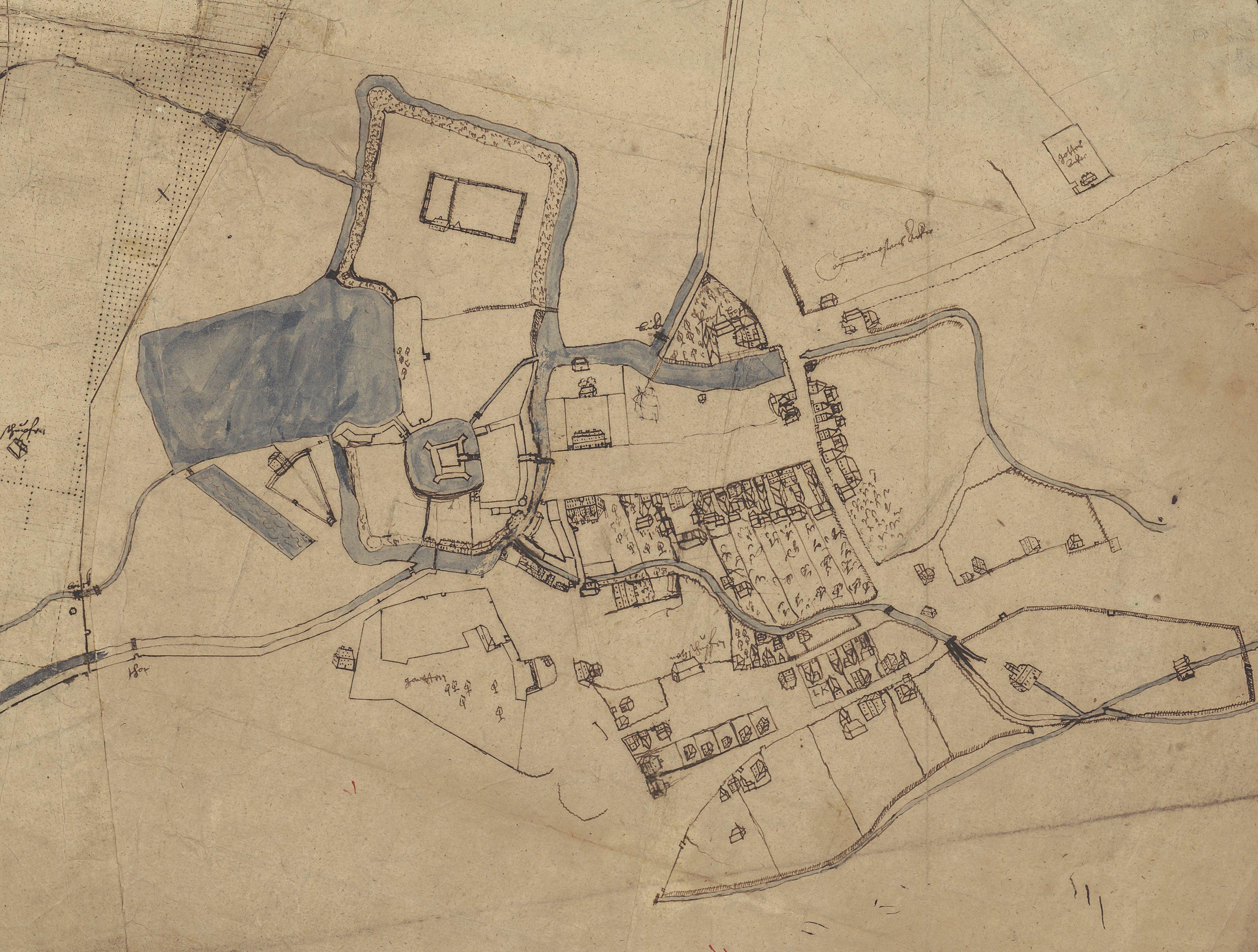 Ausschnitt aus der Karte von 1578